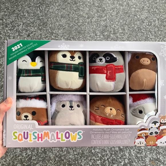 Squishmallows holiday plush ornament set brand new